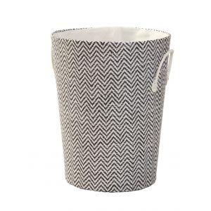 Emporium Nile Laundry Hamper Black/White 40x50cm