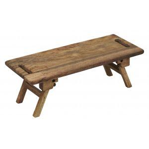 Davis & Waddell Landstead Collapsible Mango Wood Rectangular Board Natural 50x20x5cm/Legs Extended 50x20x12cm