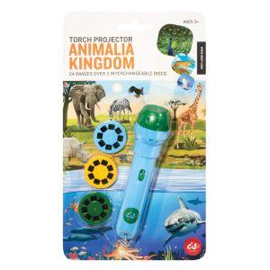 Is Gift Torch Projector - Animal Kingdom Blue 12.5x3x3cm