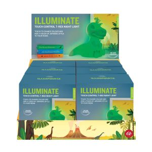 IS GIFT Illuminate Colour Changing Touch Light -T-Rex (6Disp Multicoloured Select from blue, red, green & colour changing
