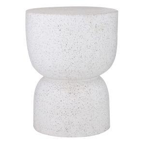 Amalfi Kaia Side Table/Stool White 35x35x45cm