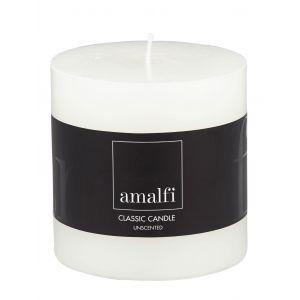 Amalfi Classic Unscented Pillar Candle White 10x10x10cm
