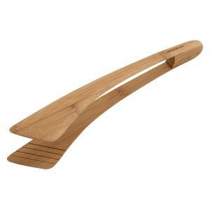 MasterPro Bamboo Serving Tongs Natural 30x6x4.5cm