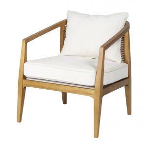 Amalfi Bayamo Arm Chair White/Natural 64x70x73cm