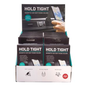 IS GIFT Hold Tight - Magnetic Car Vent Phone Holder  Black