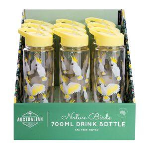 The Australian Collection Water Bottle 700ml - Cockatoo (9Disp) Multi-Coloured 24x6.9x6.9cm