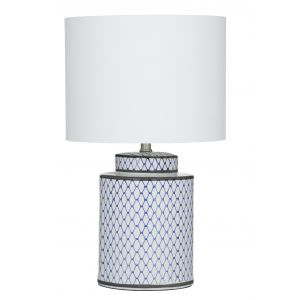 Society Home SH Leila Table Lamp  33x55cm Blu Blue/White 33x33x55cm