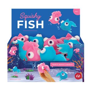 IS GIFT Squishy Fish  assorted blue & pink