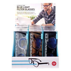 Is Gift Screen Time - Blue Light Filter Glasses (3Asst/18Disp) Assorted 16x6.2x3.5cm
