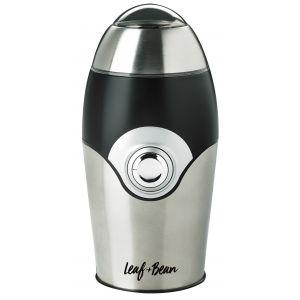 Leaf & Bean Electric Coffee Grinder Stainless Steel/Black/Silver 10.5x10x20cm