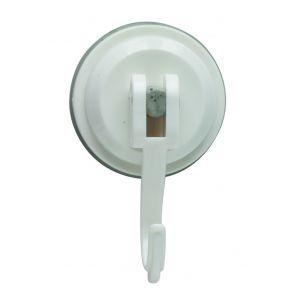 Zeal Click & Secure Reusable Suction Hook White 4.5x3x8cm