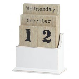 Emporium Desk Calendar Natural/White 11x16cm