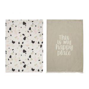 Happy Place Tea Towel Set/2 AMTTEM004