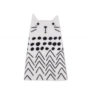 Emporium Milly Cat Sculpture Black/White 7x7x10cm