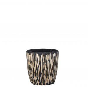 Rogue Makena Pot Black/Natural 30x30x31cm