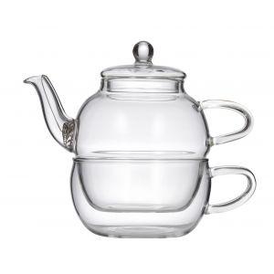 Leaf & Bean Chrysanthemum Tea for One Clear 14.5x8.5x13.5cm/Teapot 400ml/Cup 250ml/Coil Strainer