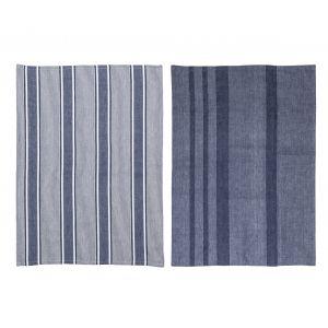 Davis & Waddell Ellis Tea Towel Set/2 Blue/White 70x50x0.2cm