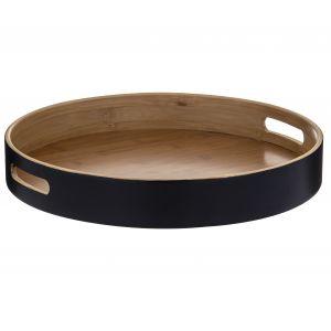 Davis & Waddell Bamboo Round Serving Tray 38x38x6cm Natural/Black