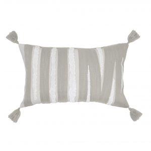 Amalfi Herve Cushion Grey/White 50x10x30cm