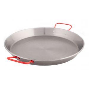 Garcima Universal Paella Pan Silver/Red 38x28x6cm/D28cm/Feeds 2-3