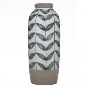 Amalfi Heritage Vase White/Grey/Green 14x14x36cm