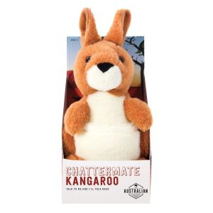 """The The Australian Collection ChatterMate - Kangaroo Brown """"We repeat everything you say"""""""