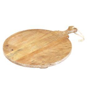 Davis & Waddell Provence Mango Wood Round Board Natural/White 36x47x3.5cm