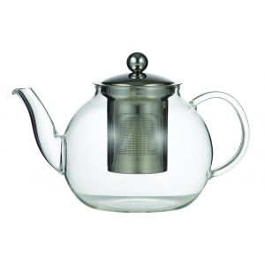 Leaf & Bean Camellia Teapot with Filter Clear/Stainless Steel 22x14x14cm/5 cup/1L