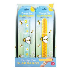 IS GIFT Buzzing Bees Slap Bands  assorted Designed in Australia