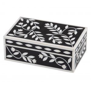 Amalfi Alaia Deco Box Black/White 20x12x7cm