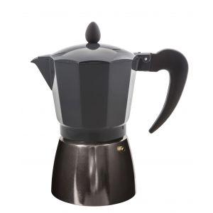 Leaf & Bean Stove Top Espresso Maker Silver/Coal 17.5x10x19cm/6 cup