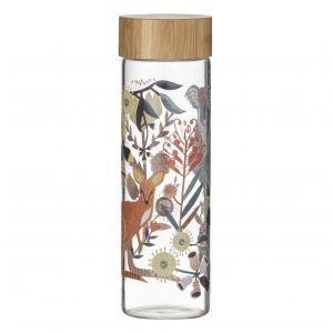 Australiana Fauna Water Bottle Clear/Natural/Multi 7.5x7.5x23cm/750ml