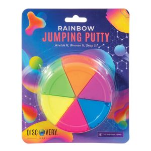 Discovery Zone Rainbow Jumping Putty Multi-Coloured 12x12x3cm