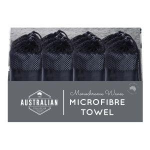 The Australian Collection Microfibre Towel - Mono Waves  assorted Ocean Prints