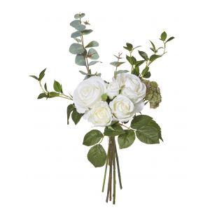 Rogue Rose/Eucalyptus Bouquet White 30x30x48cm