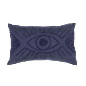 Amalfi The Eye Cushion Blue 50x10x30cm