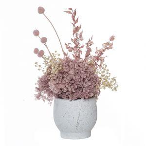 Rogue Preserved Hydrangea Mix-Brice Pot Pink/White 34x23x42cm
