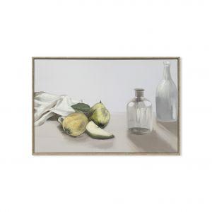 Amalfi Still Life with Bottles 1 Wall Décor Cream/Green/White 60x5x40cm