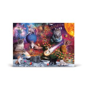 Fred Jigsaw Puzzle Galaxy Cats - 1000pcs Multi-Coloured 70x50x0.6cm