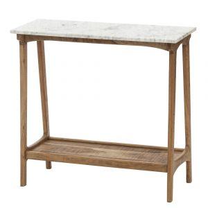 Amalfi Fullerton Console Table Rustic Natural/White 85x35x80cm