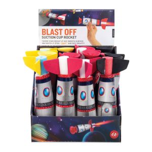 IS GIFT Blast Off - Suction Cup Rocket  assorted Yellow, Black & Red