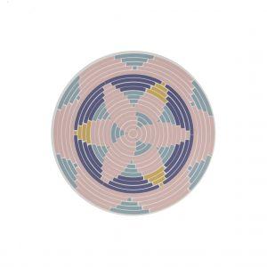 Amalfi Arli Placemat Set/4 Pink/Blue 35x0.3x35cm