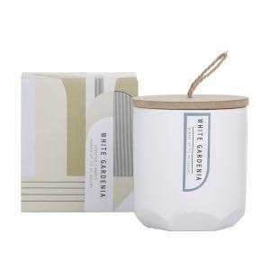 Amalfi Mondo Scented Candle Jar White Gardenia Fragrance 8x8x9cm