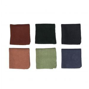 Davis & Waddell Milpa Dishcloth Set/2 3 Asst Colours 6 Green/6 Pink/6 Blue 25x0.2x25cm