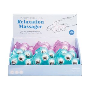 IS GIFT Handy Rolling Relaxation Massager  assorted blue & pink