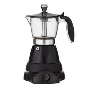 Leaf & Bean Electric Espresso Maker 17x13x25cm/3 Cup Black/Silver