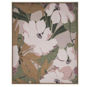 Amalfi Flower Garden Wall Décor Cream/Pink/Green/Mustard 82.6x4.3x102.6cm