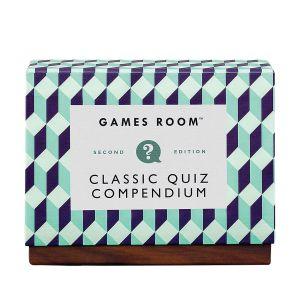 Games Room Classic Quiz Compendium Multi-Coloured 15.2x12x7cm