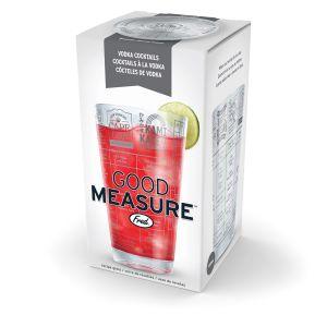 Fred Good Measure Vodka Recipe Glass  Clear