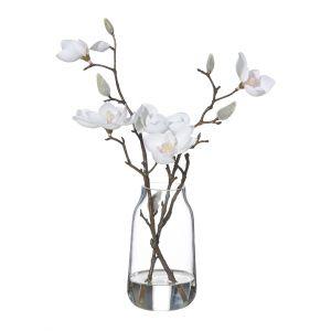 Rogue Magnolia-Harper Vase White/Glass 17x16x32cm